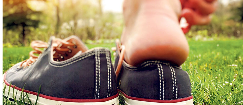Caring for cracked heels