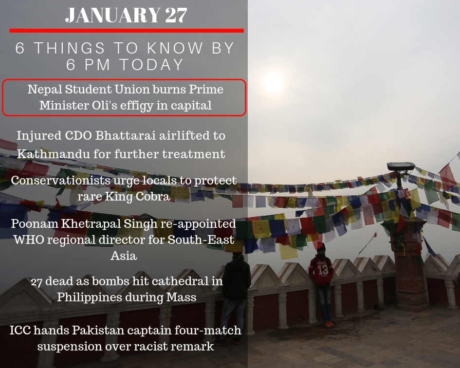 JAN 27: 6 things to know by 6 PM today