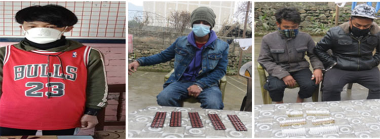 Five held with narcotics at Nagdhunga checkpoint