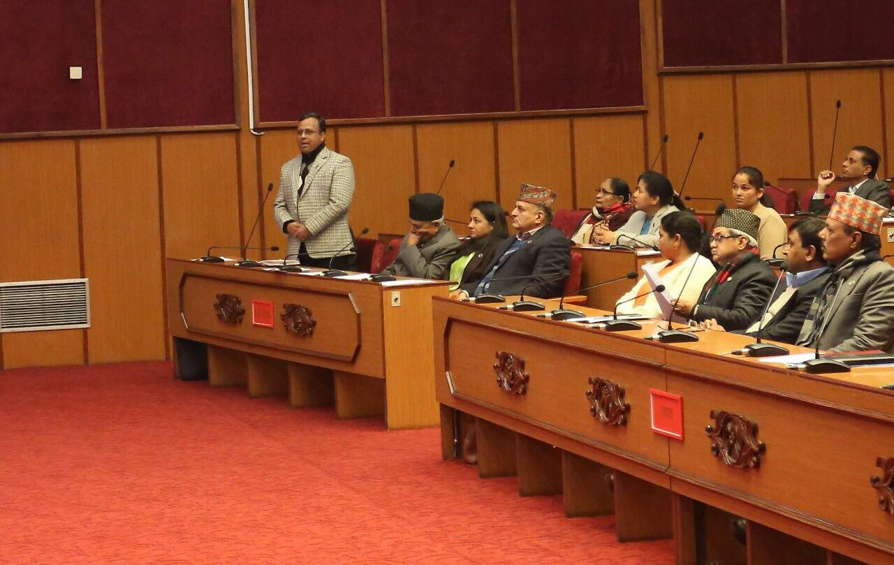 Nat'l Assembly's meeting adjourned following protest from Nepali Congress