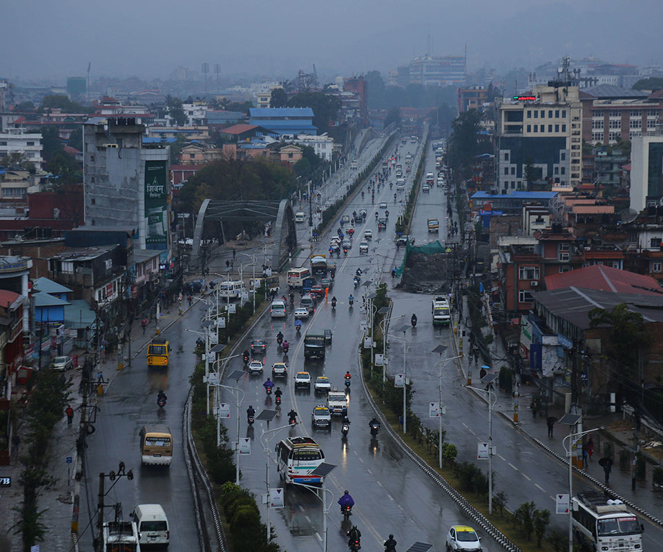 Various parts of the country including Kathmandu Valley witness moderate rainfall