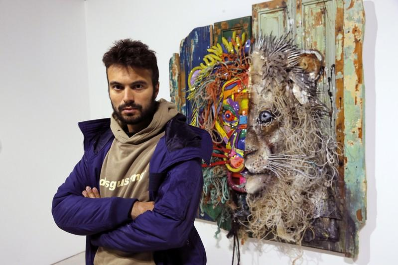Plastic finds second life in Portuguese street artist's work