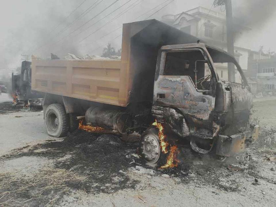Curfew in Morang localities after tipper-truck kills child