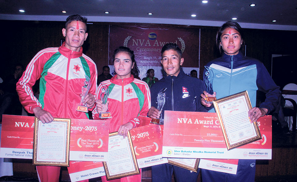 Army's Bhatta, APF's Chaudhary named best volleyball players of the year