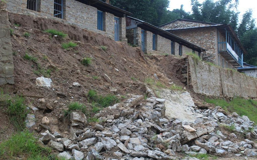 Seven-month-old wall collapses in Khotang