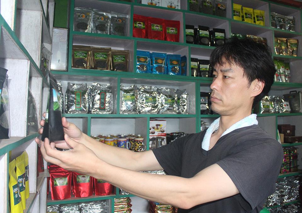 Japanese man promoting Ilam tea