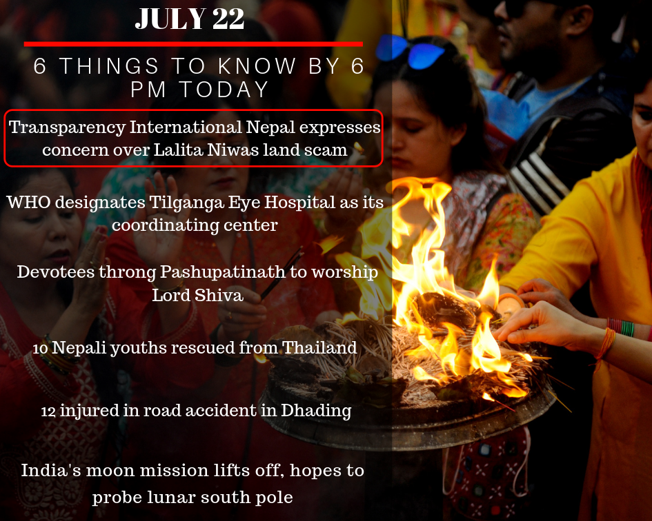 July 22: 6 things to know by 6 PM today - myRepublica - The New York