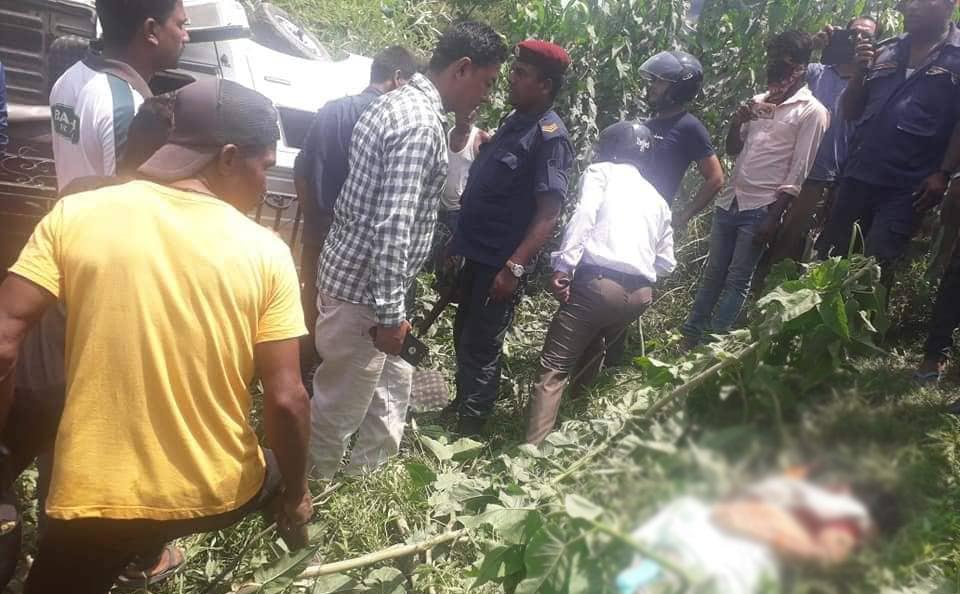 Three dead,  seven injured as a truck hits Magic van in Siraha
