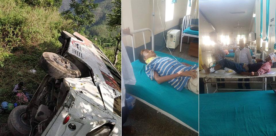Seventeen injured in Achham bus mishap