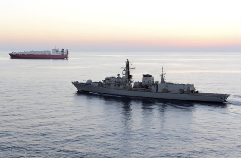 Britain says Iranian vessels tried to block ship in Gulf