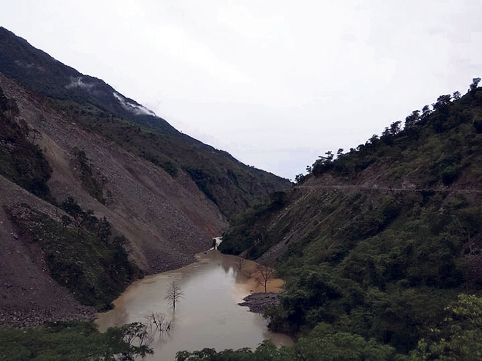 Obstruction of Budhiganga River likely to cause outburst
