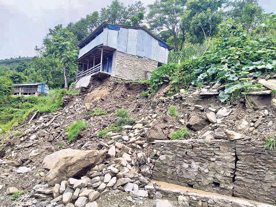 Haphazardly constructed rural roads become a bane for Dhading residents
