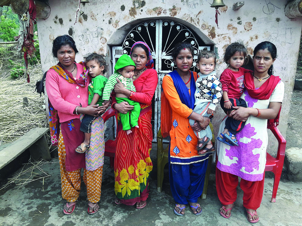 Women in Baitadi village happy with improved health, sanitation