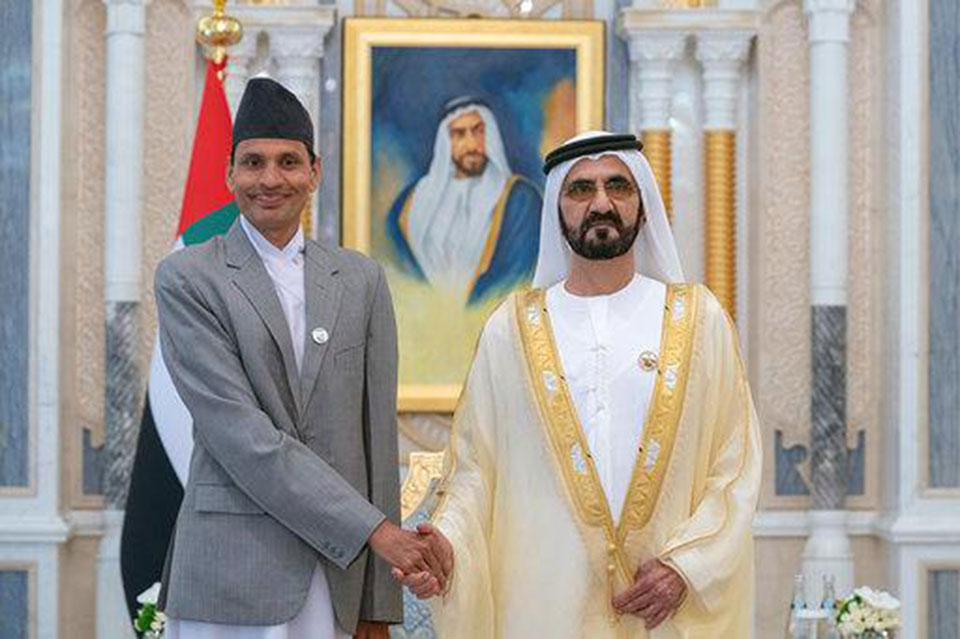 Ambassador Dhakal presents credentials to Vice President of UAE