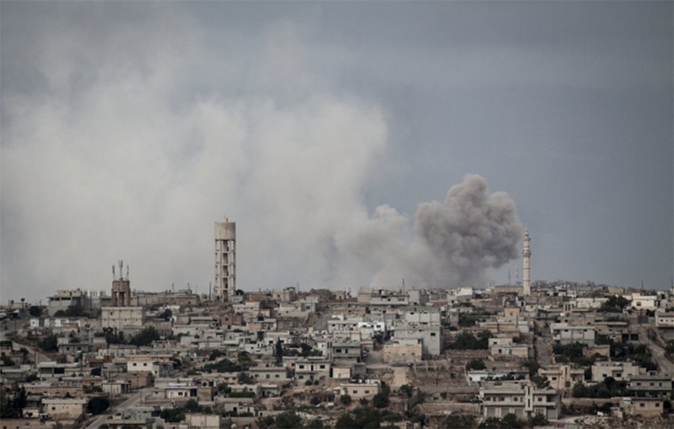 Syrian activists say airstrike killed 16 in rebel-held town