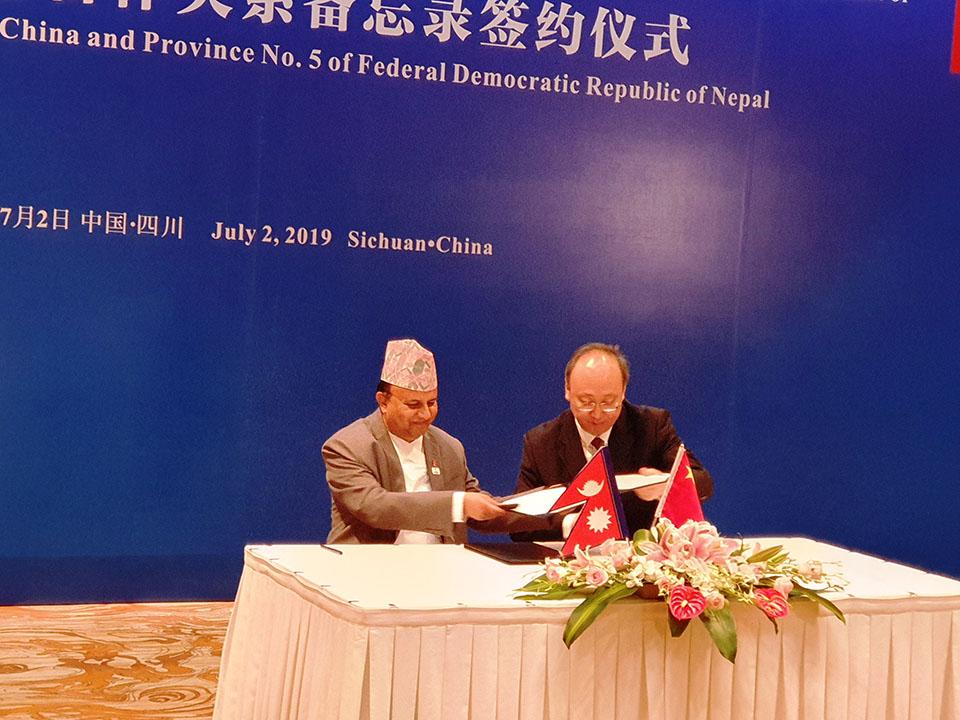 Province 5, China's Sichuan establish provincial ties