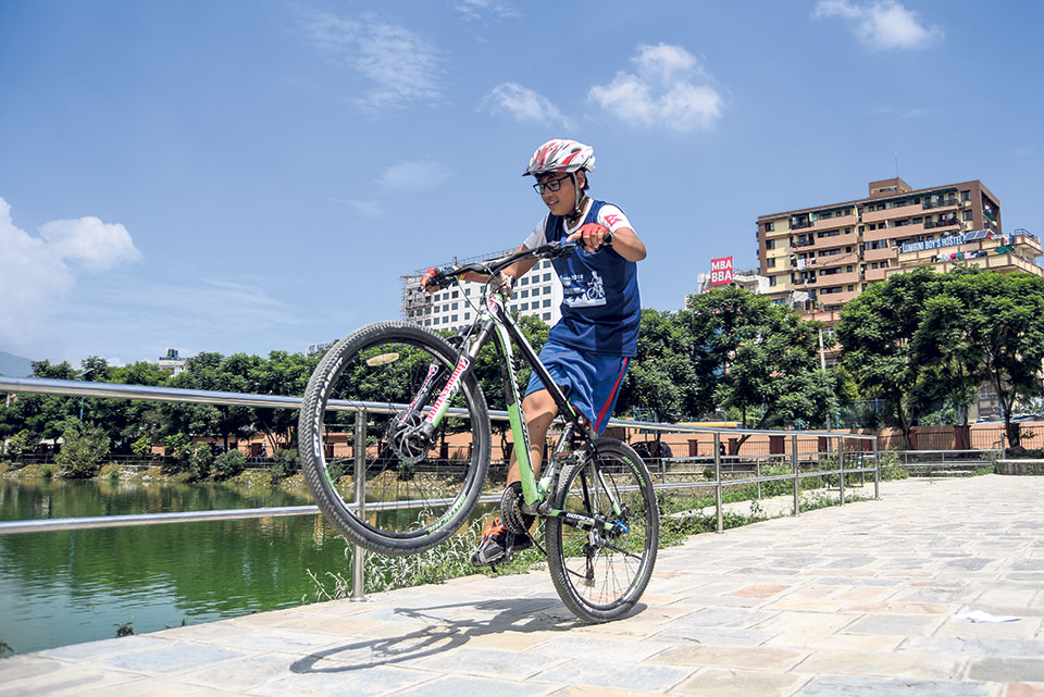 Cycle City is panacea for pollution and bad health, says LMC Mayor Maharjan