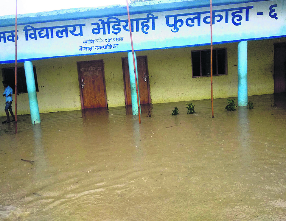 60 percent schools in Mahottari inundated