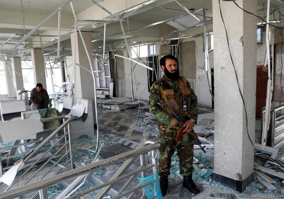 Bombs in Kabul kill at least 11 as U.S. steps up diplomacy in effort to end war