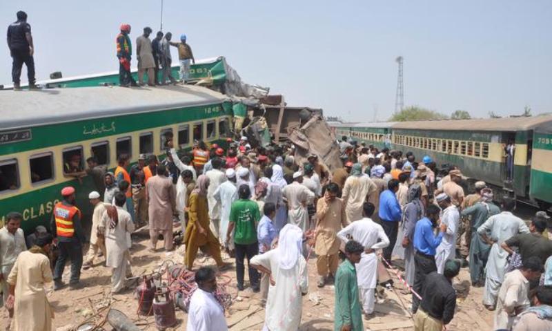 Pakistan PM hits out at poor railways as crash kills 11, injures dozens