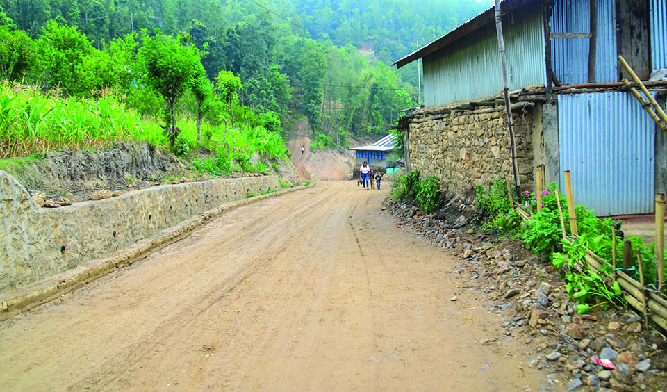 Rural roads being blacktopped