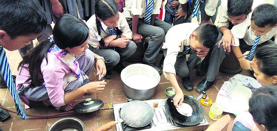 Bhaktapur schools teach about Khwapa past, present
