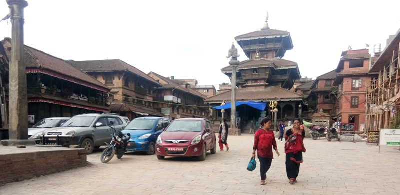 Culturally important Dattartreya area turning to a parking lot