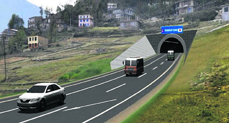 Construction of Thankot - Naubise tunnel road to begin in October