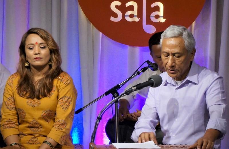 Vikram Gurung performs at Paleti