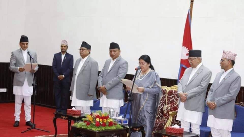 NCP leader Yogesh Bhattarai takes oath of office as tourism minister