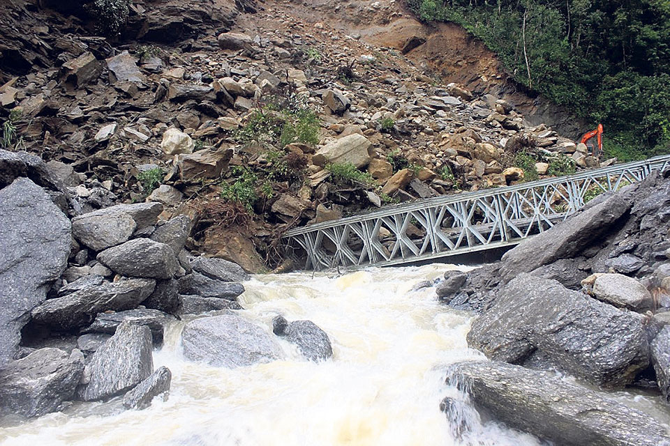 Flood causes damage to Arun Third project