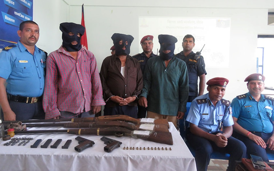 Police arrest three district leaders of outlawed Chand-led party
