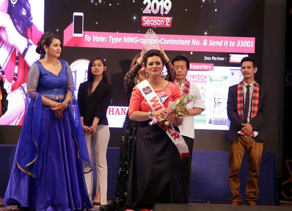 Minu Pradhan crowned Mrs Glam 2019
