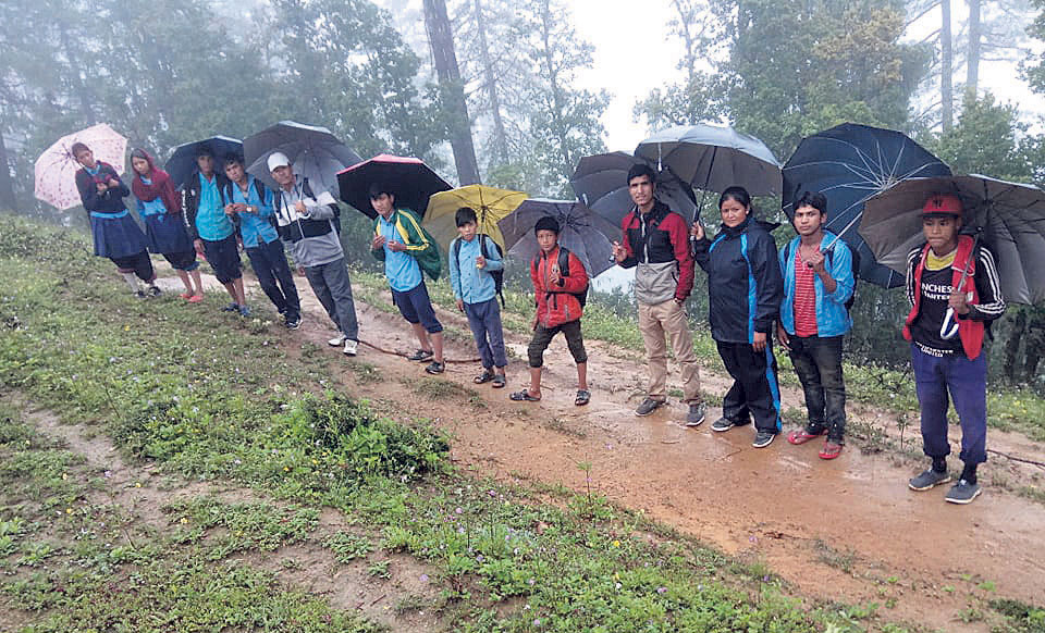 Students in remote Jumla compelled to walk four hours to school
