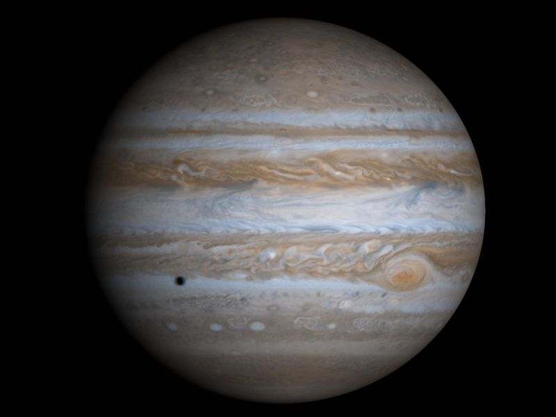 Jupiter and four of its moons to shine in the night sky all month