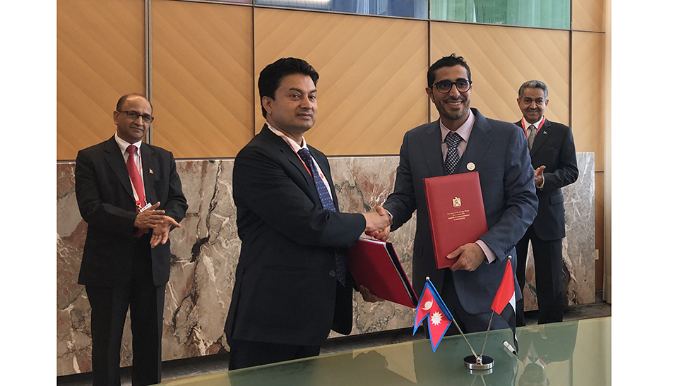Nepal signs labor pact with UAE