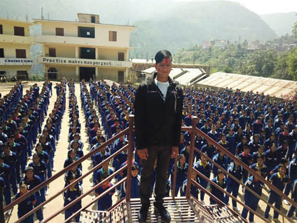 Visually-impaired Lokesh Dangi tops SEE in Rolpa district