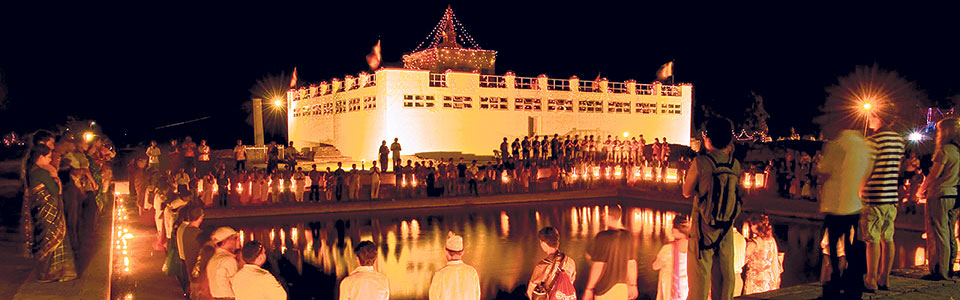 A beautified Lumbini ready to welcome visitors after reopening