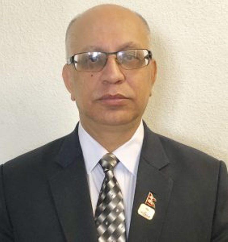 Ambassador Bhattarai presents credentials to Swiss President