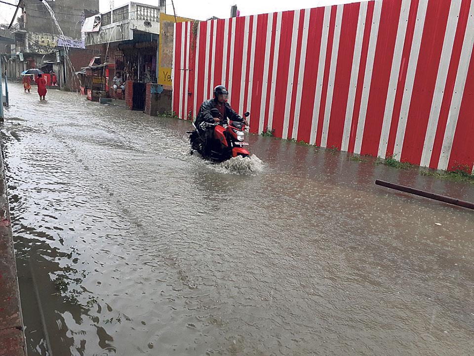 Heavy downpour inundates Nepalgunj