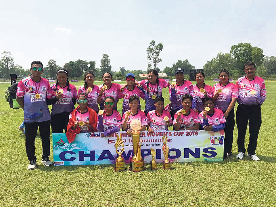 APF defeats Sudur Paschim to win PM Cup Women's cricket