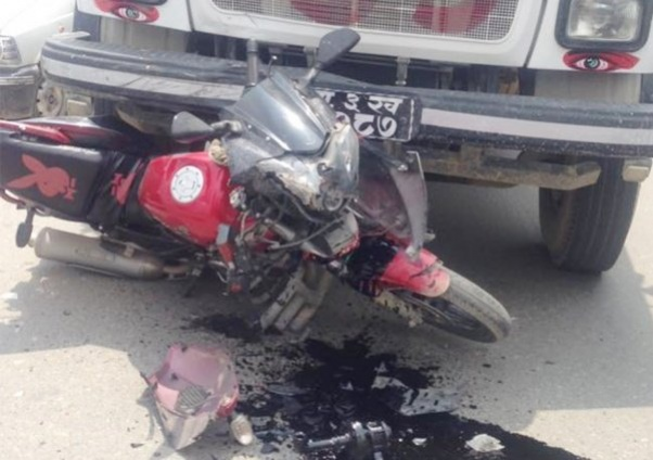 Two die in motorcycle-tipper collision in Udayapur