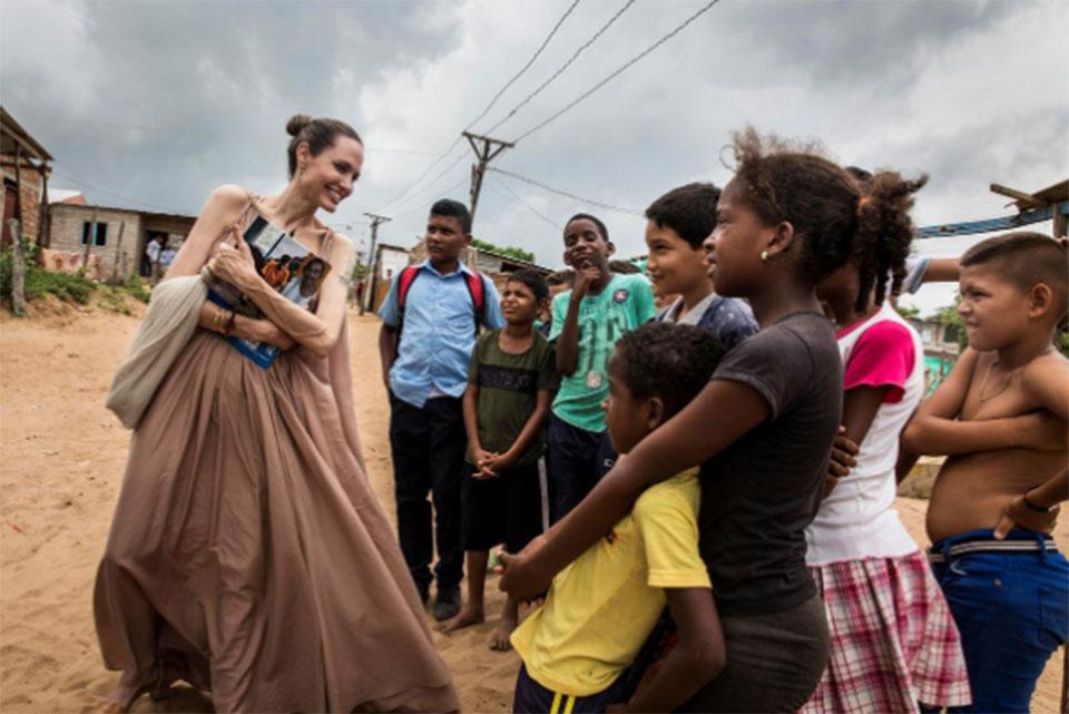 Angelina Jolie urges international support for Venezuelan children