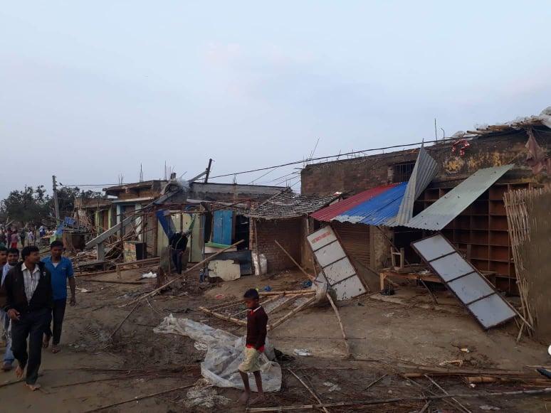 Two injured in storm in Sarlahi