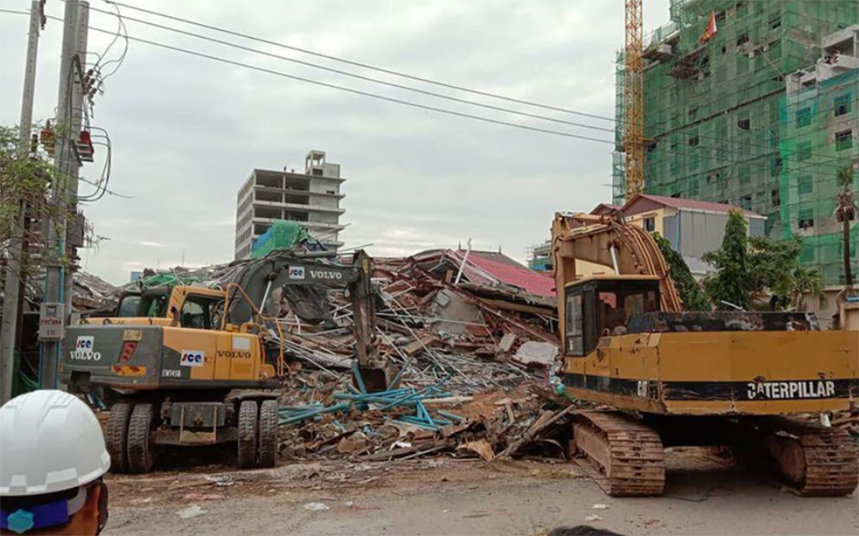 3 workers dead, 18 injured in Cambodia building collapse