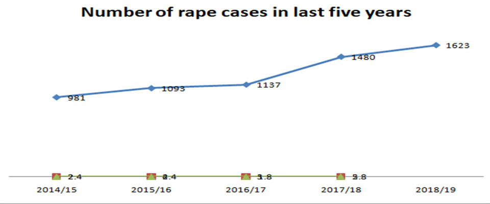 Six rape cases reported daily in Nepal