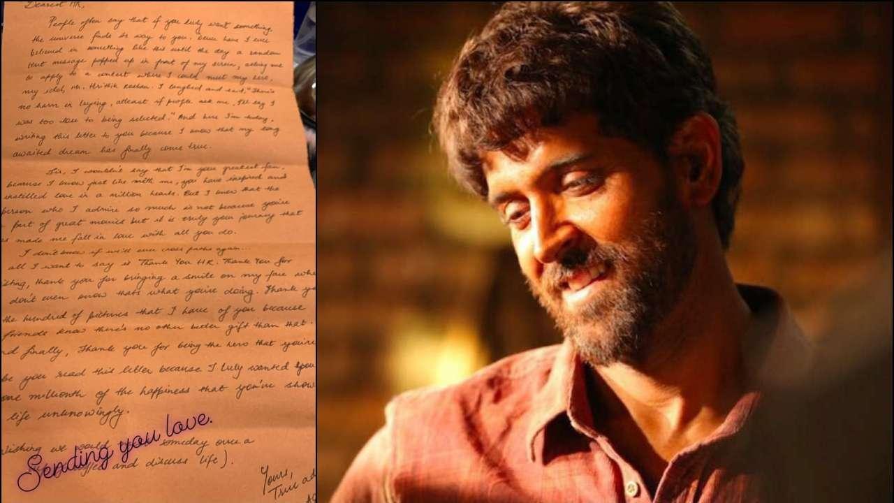 Hrithik Roshan shares a fan's handwritten letter, sends him love