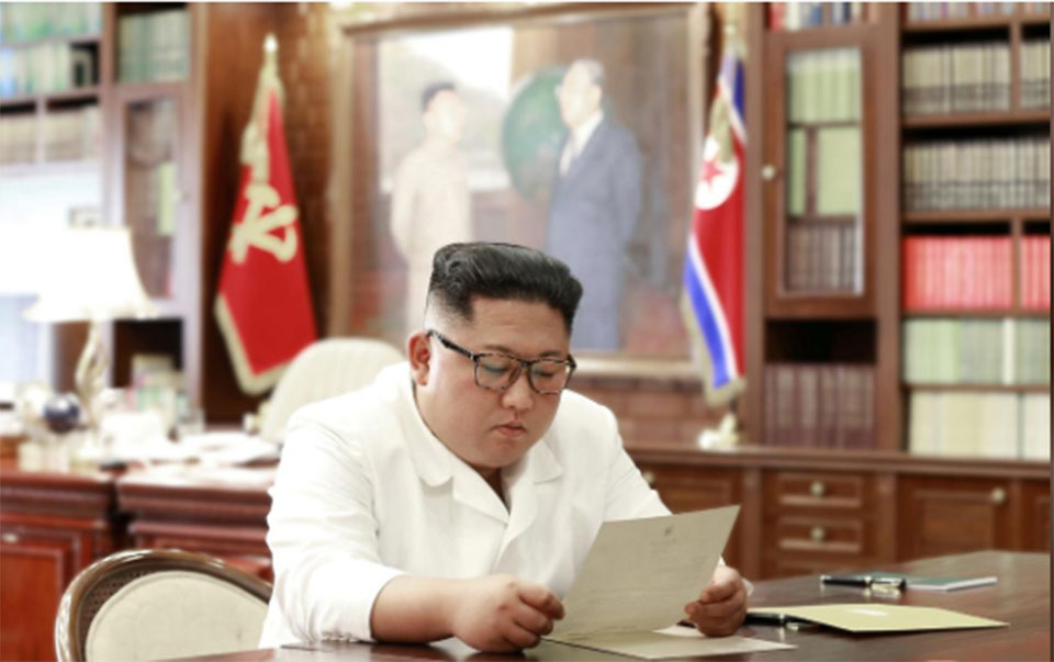 North Korea's Kim says will consider letter received from Trump