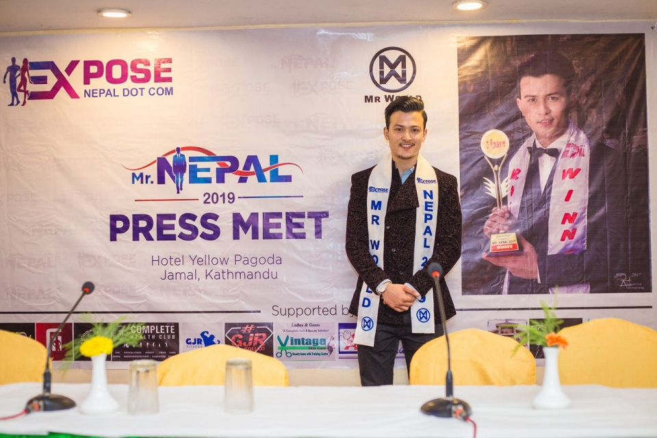 Akshay Jung Rayamajhi to represent Nepal in 'Mr World 2019'