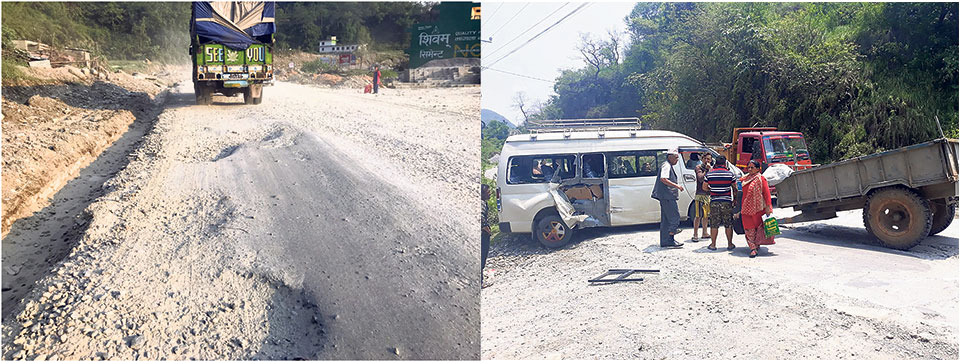 Dilapidated Prithvi Highway section seeing more accidents